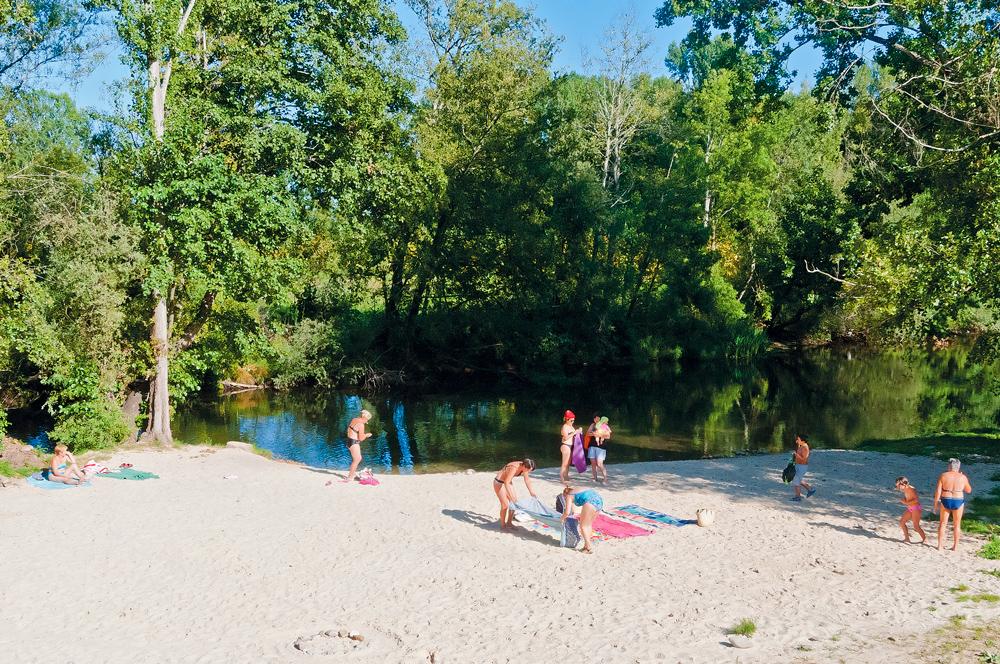 Playa río burbia